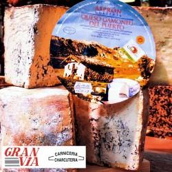Queso Gamoneu del Puerto la quesería Asprón en cuña