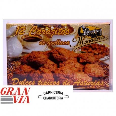 Carajitos de avellana Monasterio caja 12 unidades