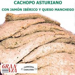 Cachopo asturiano de jamón ibérico y queso manchego 400 gr.